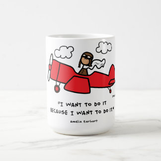 アメリアEarhartのマグ コーヒーマグカップ