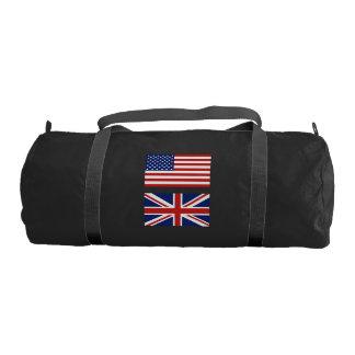 アメリカおよびイギリスの旗 ジムバッグ