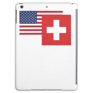 アメリカおよびスイスの旗