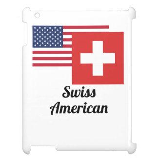 アメリカおよびスイスの旗 iPadカバー