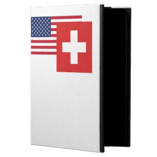 アメリカおよびスイスの旗 iPad AIRケース