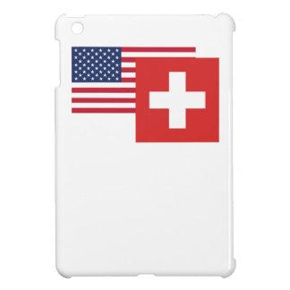 アメリカおよびスイスの旗 iPad MINIカバー