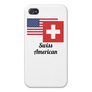 アメリカおよびスイスの旗 iPhone 4 カバー