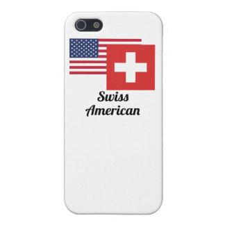 アメリカおよびスイスの旗 iPhone 5 COVER
