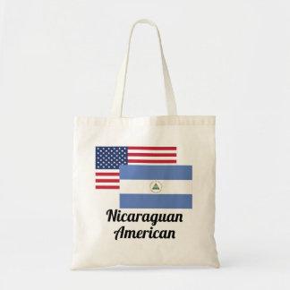アメリカおよびニカラグアの旗 トートバッグ