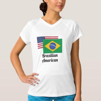 アメリカおよびブラジルの旗 Tシャツ
