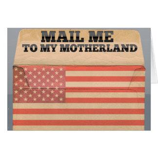 アメリカに私を郵送して下さい カード