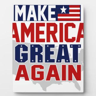 アメリカに素晴らしいマグ1を再度して下さい フォトプラーク