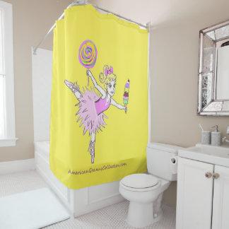 アメリカのおばあさんのバレリーナのシャワー・カーテン シャワーカーテン