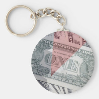 アメリカのお金及び旗Keychain キーホルダー
