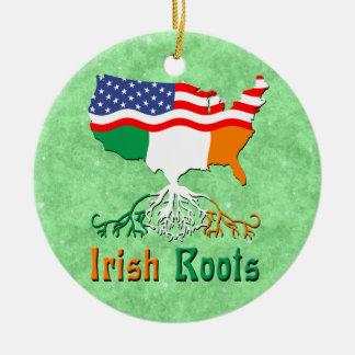 アメリカのアイルランドの根のオーナメント セラミックオーナメント