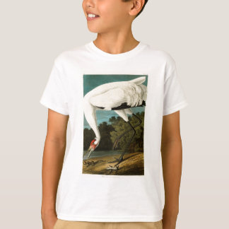 アメリカのアメリカシロヅルのジョン・ジェームズ・オーデュボンの鳥 Tシャツ