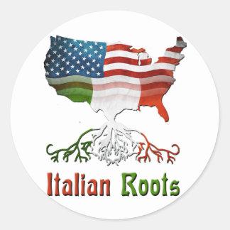 アメリカのイタリアンな根 ラウンドシール