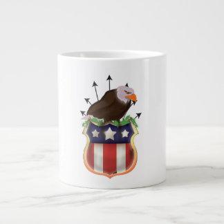 アメリカのイヌワシの星条旗の旗 ジャンボコーヒーマグカップ