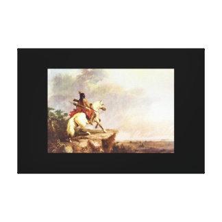 アメリカのインディアンScout',アルフレッドJacob_Art キャンバスプリント