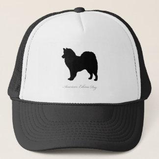 アメリカのエスキモー犬のシルエット キャップ