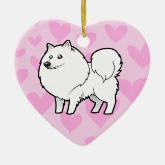 アメリカのエスキモー犬/ドイツのスピッツ愛 セラミックオーナメント