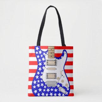 アメリカのエレキギター トートバッグ