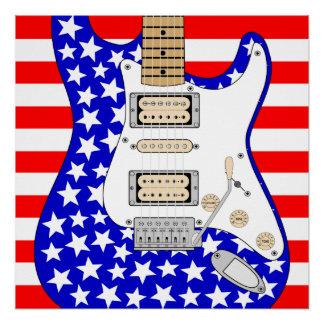 アメリカのエレキギター ポスター