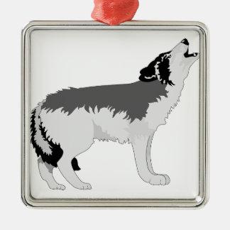 アメリカのオオカミの運命の自然 メタルオーナメント