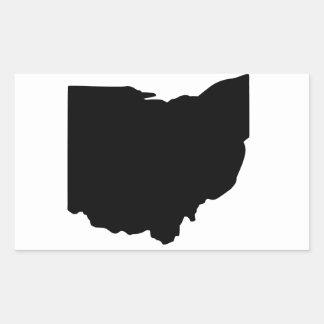 アメリカのオハイオ州 長方形シール