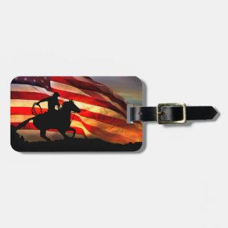 アメリカのカウボーイの荷物のラベル ラゲッジタグ