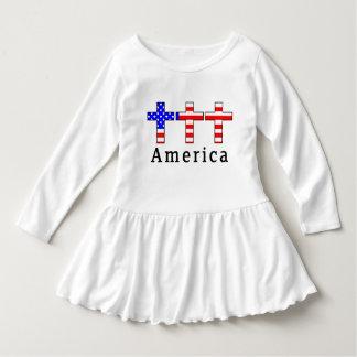 アメリカのキリスト教! 幼児の服! ドレス