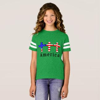 アメリカのキリスト教! 緑の運動チームワイシャツ! Tシャツ