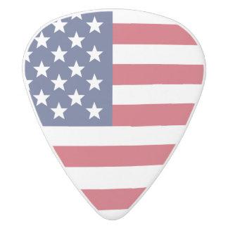 アメリカのギターピック ホワイトデルリン ギターピック