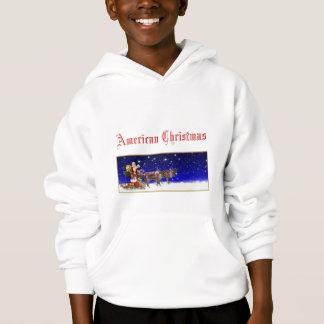 アメリカのクリスマスのフード付きスウェットシャツ