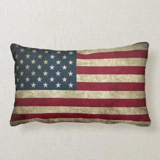 アメリカのグランジな旗のLumbarのクッション ランバークッション
