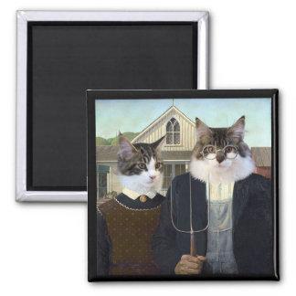 アメリカのゴシック様式おもしろいな猫の子ネコの磁石 マグネット