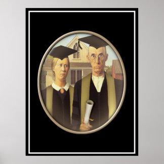 アメリカのゴシック様式大学院のカメオ ポスター