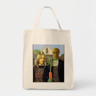 アメリカのゴシック様式野菜のカップルの買い物袋 トートバッグ