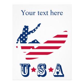 アメリカのサーファーをサーフする米国 レターヘッド
