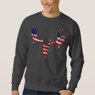 アメリカのシカのスカル スウェットシャツ