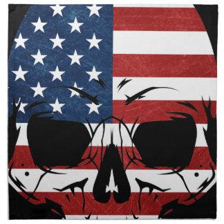 アメリカのスカルの旗の骨組悪 ナプキンクロス