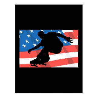 アメリカのスケートボーダー はがき
