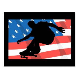 アメリカのスケートボーダー 葉書き