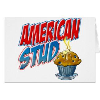 アメリカのスタッドのマフィン カード