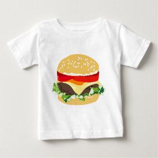 アメリカのチーズバーガー ベビーTシャツ