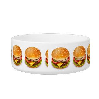 アメリカのハンバーガー媒体のペットボウル ボウル
