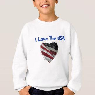 アメリカのハートの旗 スウェットシャツ