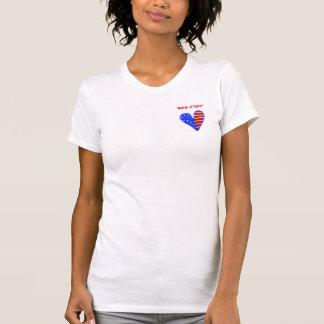 アメリカのハートは名誉のワイシャツの婦人をカスタマイズ Tシャツ