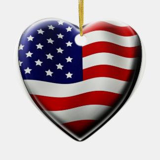 アメリカのハート セラミックオーナメント