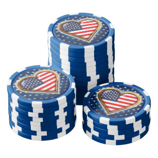 アメリカのハート ポーカーチップ