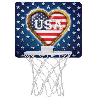 アメリカのハート ミニバスケットボールネット