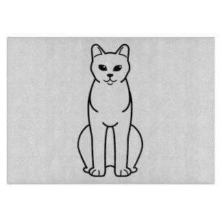 アメリカのビルマ猫の漫画 カッティングボード