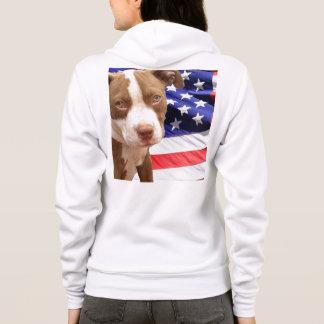 アメリカのピットブルの子犬のワイシャツ パーカ