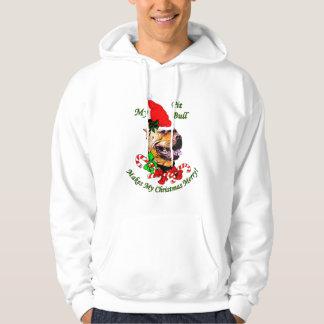 アメリカのピット・ブルテリアのクリスマスのギフト パーカ